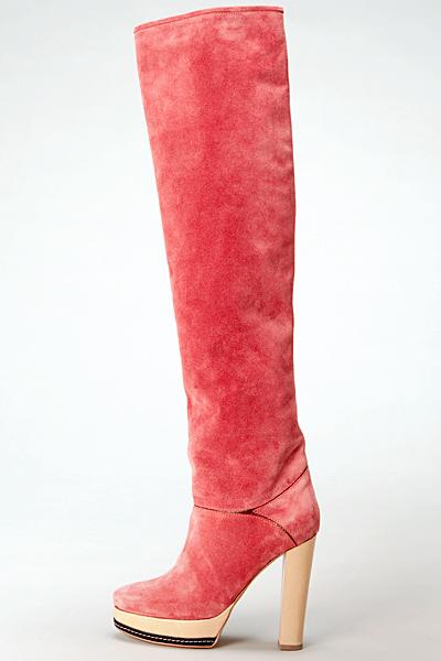 Високи ботуши на ток розов велур Vanessa Bruno Есен-Зима 2011