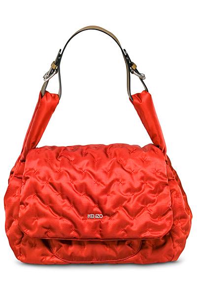 Ярко червена чанта за рамо Kenzo Есен 2011