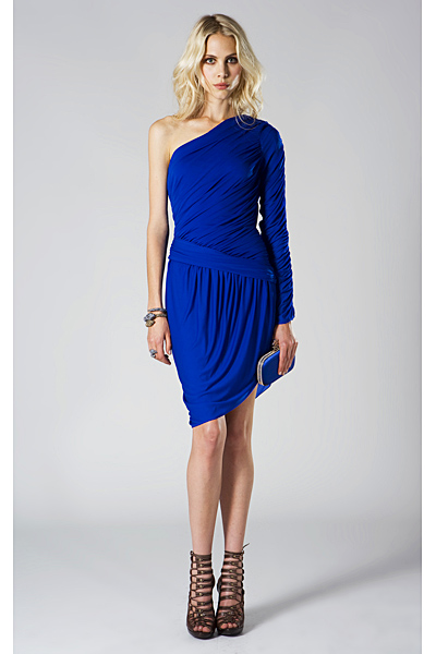 Roberto Cavalli 2011 елегантан рокля в турско синьо