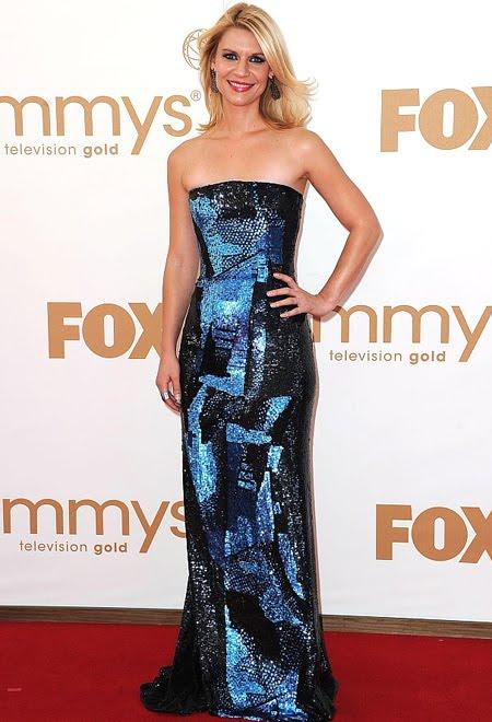 Клер Дейнс с блестяща права рокля на Oscar de la Renta
