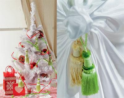 Коледна елха с пискюли