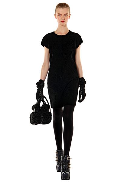 Къса черна изчистена рокля Есен-Зима 2011 Bally