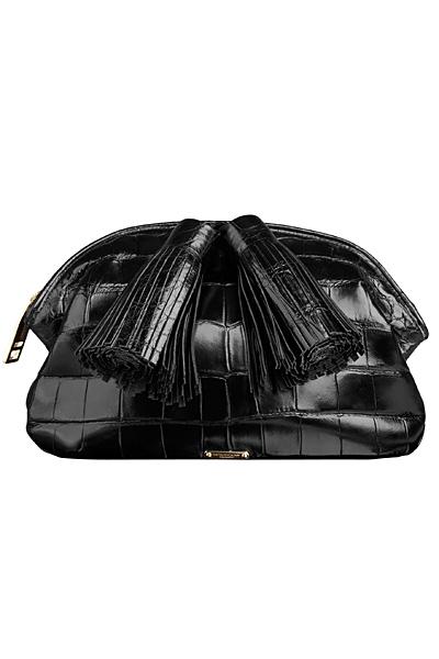 Малка черна чанта с пискюли Burberry Есен-Зима 2011