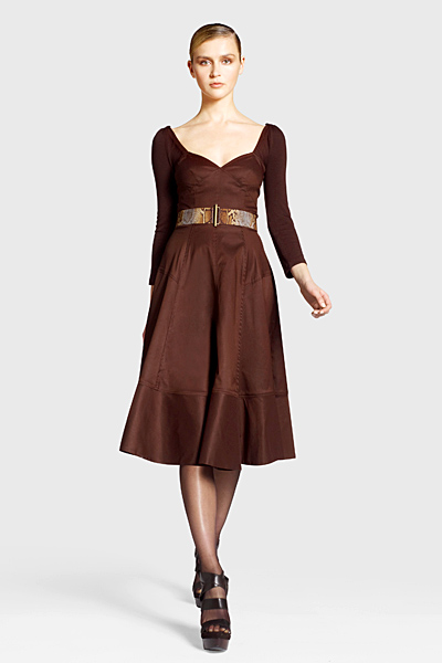 Разкроена рокля с широко деколте Предесенна колекция Icons от Diane von Furstenberg 2011