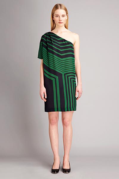 Рокля с едно рамо с линеарни мотиви Есенна колекция 2011 Stella McCartney