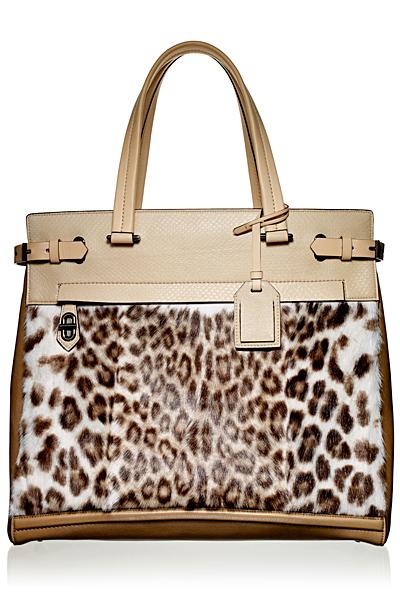 Чанта бежова кожа с леопардов мотив Reed Krakoff Есен-Зима 2011