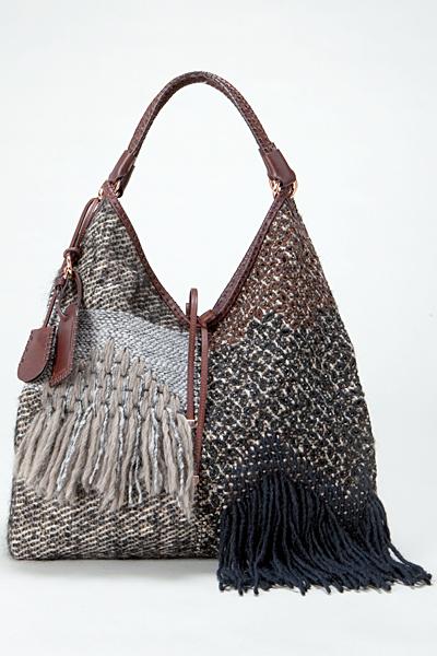 Чанта текстил с плетени елементи Vanessa Bruno Есен-Зима 2011