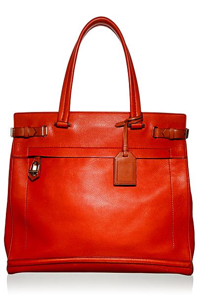 Голяма чанта лек трапец ярко червена кожа Reed Krakoff Есен-Зима 2011