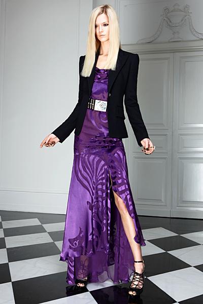 Дълга рокля с цепка и сако Предесенна колекция Versace 2011