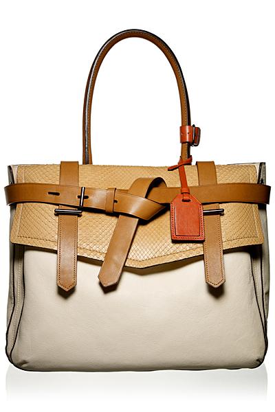 Голяма чанта два цвята кожа с капак Reed Krakoff Есен-Зима 2011