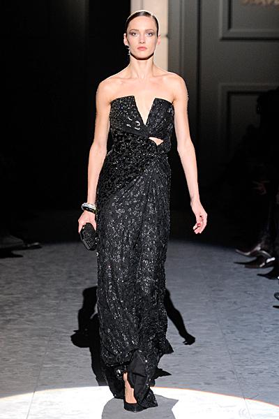 Вечерна рокля без презрамки тъмна Есен-Зима 2011 Salvatore Ferragamo