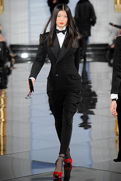 Панталон 7/8 с бричове и вталено дълго черно сако Есен-Зима 2011 Ralph Lauren