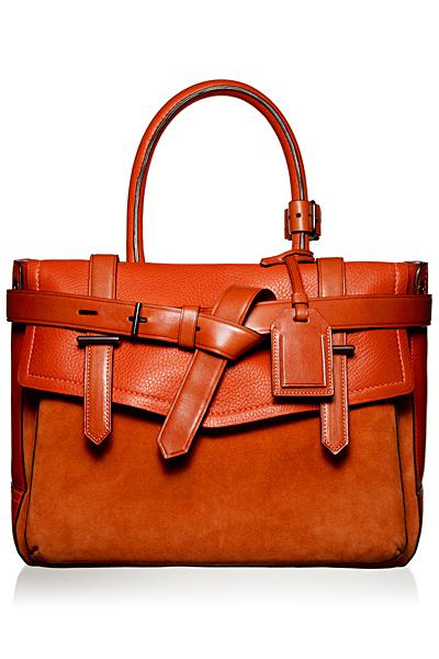 Чанта в кафяво от кожа и велур Reed Krakoff Есен-Зима 2011