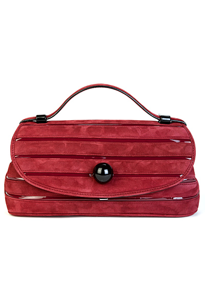 Малка червена чанта велур Marc Jacobs Есен-Зима 2011