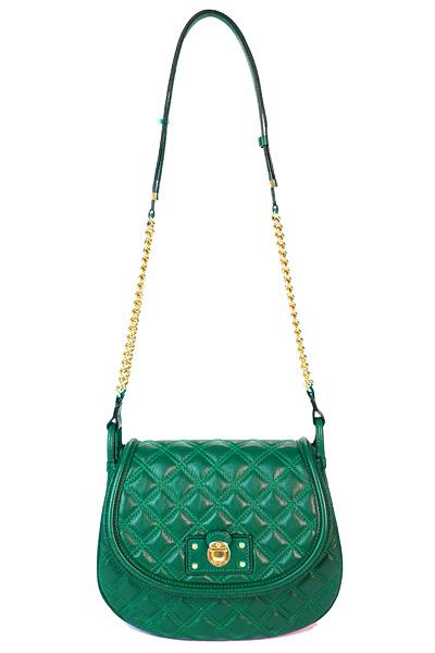 Зелена чанта сегментирана кожа с дълга дръжка Marc Jacobs Есен-Зима 2011