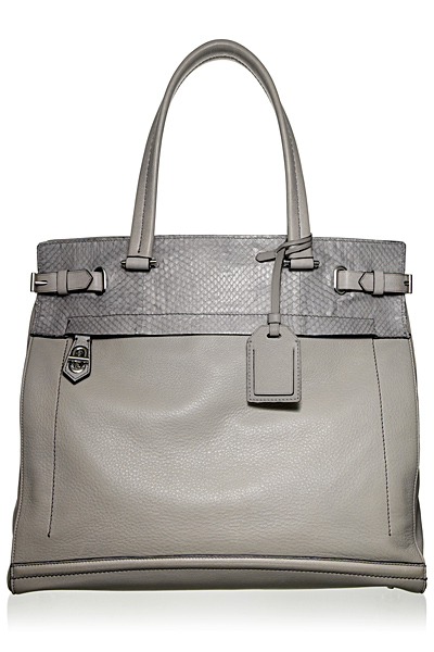 Голяма сива чанта от кожа Reed Krakoff Есен-Зима 2011