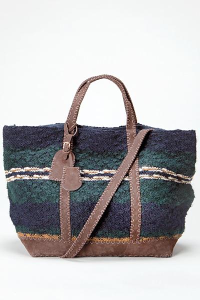 Текстилна чанта в цветовете на морето Vanessa Bruno Есен-Зима 2011