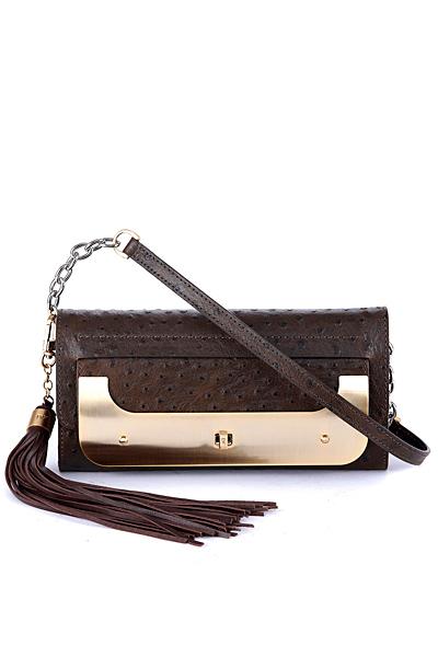 Малка чанта от кожа с голям пискюл Diane von Furstenberg Есен-Зима 2011