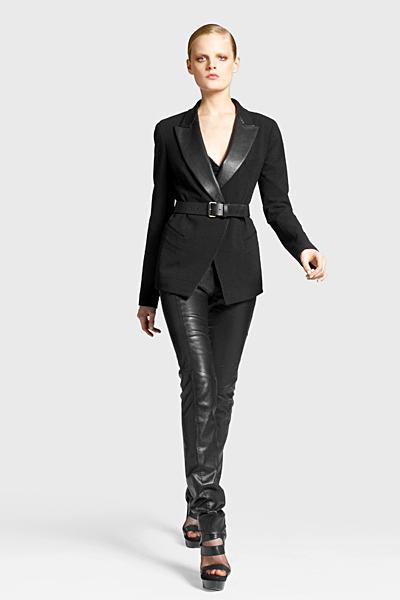 Кожен панталон с дълго сако Предесенна колекция Icons от Diane von Furstenberg 2011