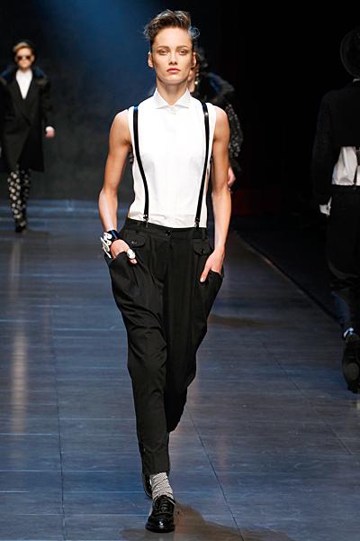 Широк ретро панталон с тиранти Есен-Зима 2011 Dolce and Gabbana