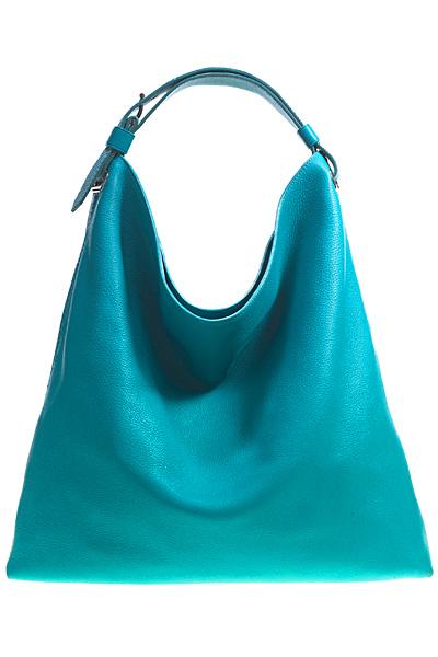 Голяма чанта тип с форма трапец с къса дръка за рамо синя Reed Krakoff Есен-Зима 2011