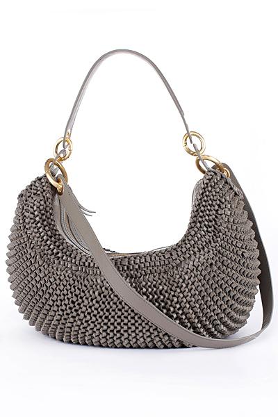 Малка чанта банан с метално плетиво Diane von Furstenberg Есен-Зима 2011