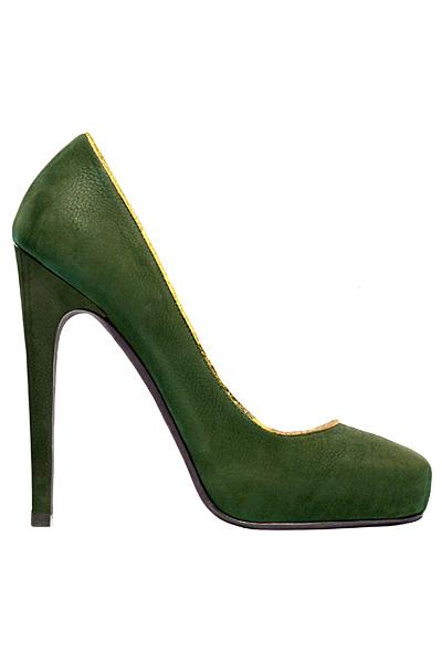 Обувки на висок ток зелена кожа Aperlai Есен-Зима 2011