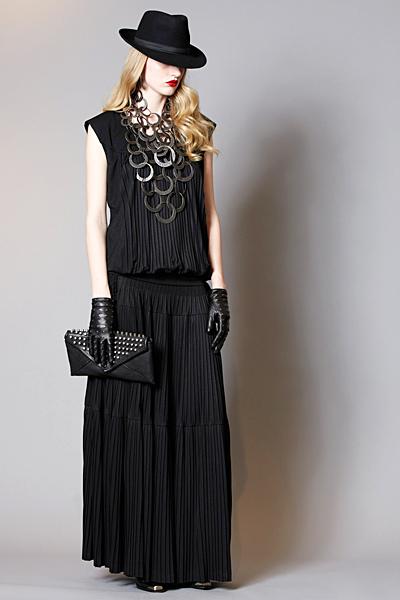 Черна дълга рокля с ниска талия Предесенна колекция Kenzo 2011