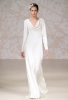 Изчистена сватбена рокля тип роба Jenny Packham Есен 2011