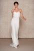 Сватбена рокля прав модел с дантелен корсет  Oscar de la Renta Есен 2011