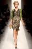 Bottega Veneta Есен-Зима 2011 рокля сиво и зелено