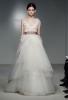 Сватбена рокля с корсет с пера и пола на леки пластове Vera Wang Пролет-Лято 2012