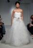 Нежна сватбена рокля с изчистен корсет Vera Wang Пролет-Лято 2012