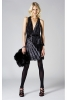 Roberto Cavalli 2011 черна рокля с остро деколте
