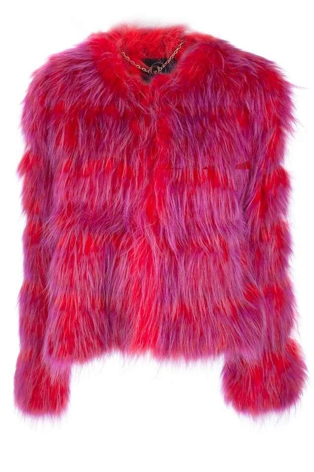 Екстревагантно палто кожа