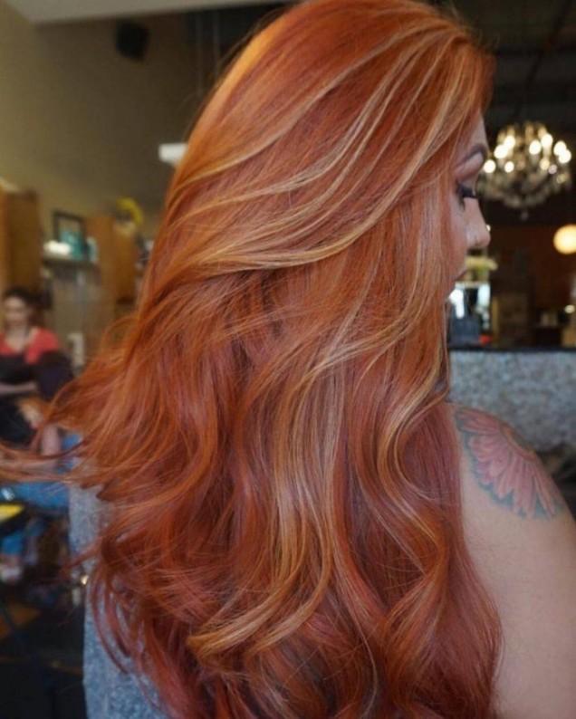 Сомбре за червена коса есен 2018