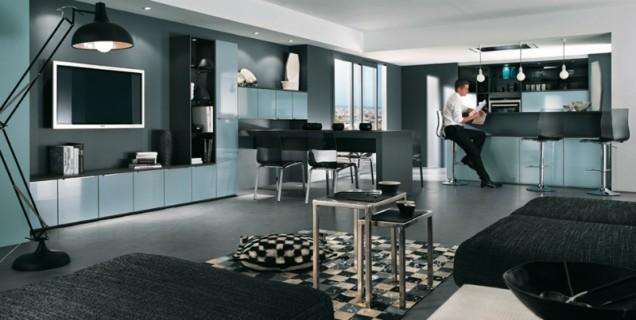 идеи за синя кухня