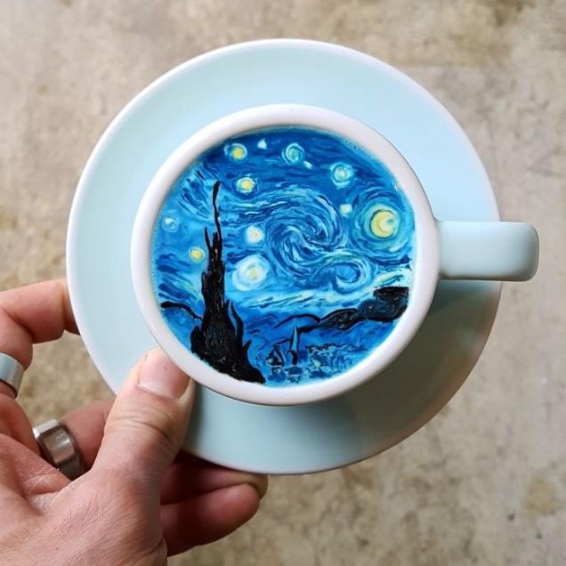 рисунка върху кафе