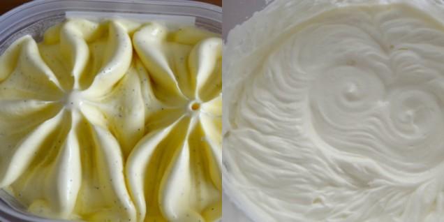 първо разбъркайте маскарпонето със сладоледа