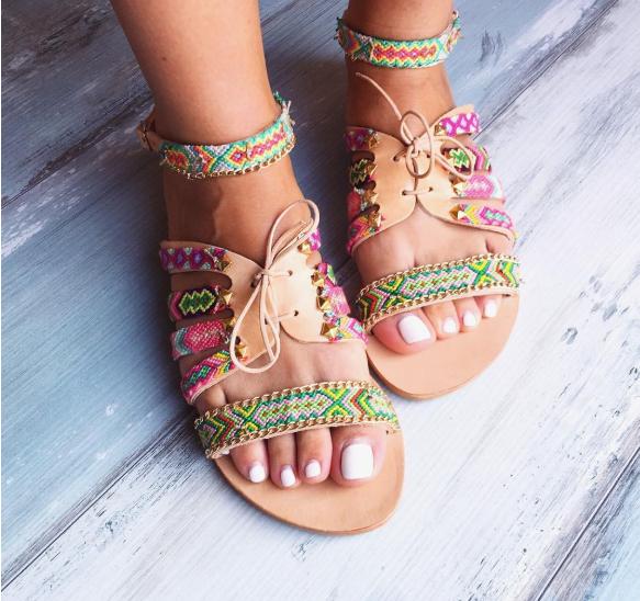 Цветни сандали лято 2018