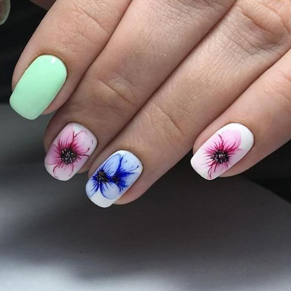 Летен маникюр за къси нокти различни нокти
