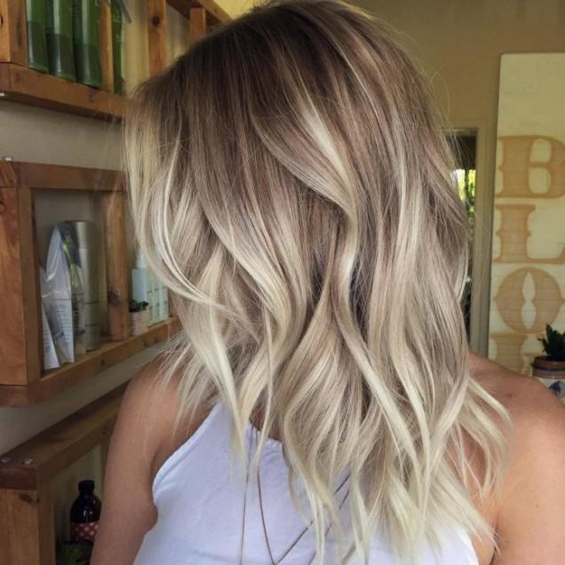 Балеаж за светла коса есен 2018