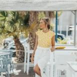 Блуза в жълто лято 2018
