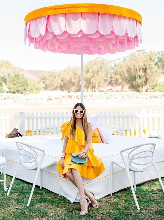 Рокля в жълто с едно рамо лято 2018