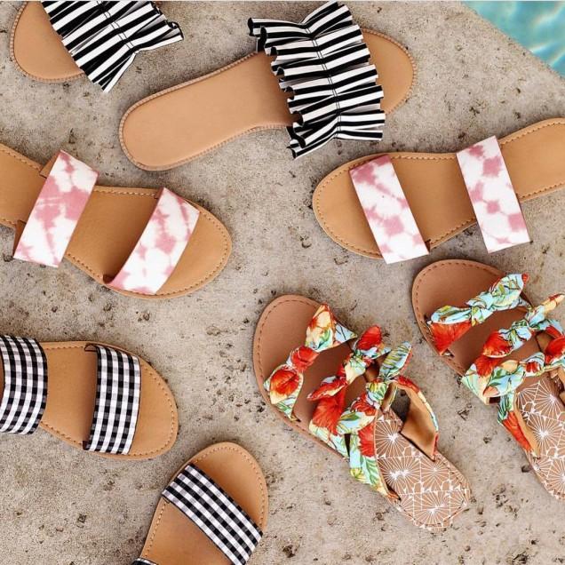 Модерни плажни чехли лято 2018