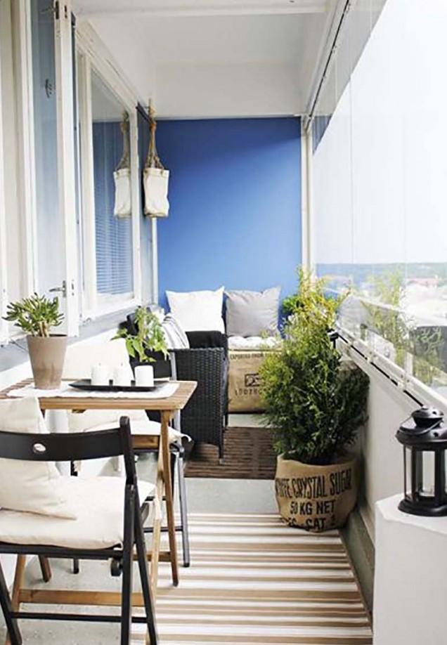идеи за декорация на балкон 55