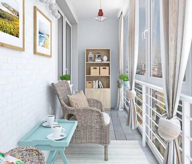 идеи за декорация на балкон