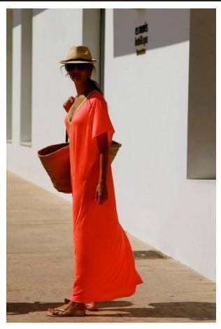 Дъла плажна рокля в червено лято 2018