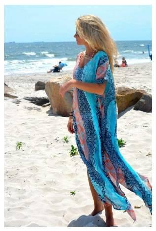 Нежна плажна рокля лято 2018