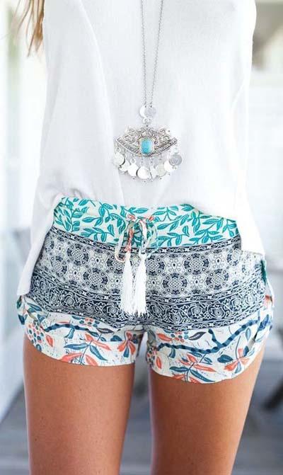 Цветни къси панталонки лято 2018